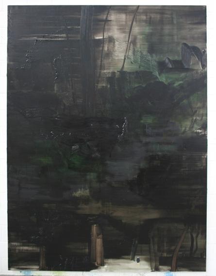 """Waldtaucher"", 150x200, Öl a.Lw."