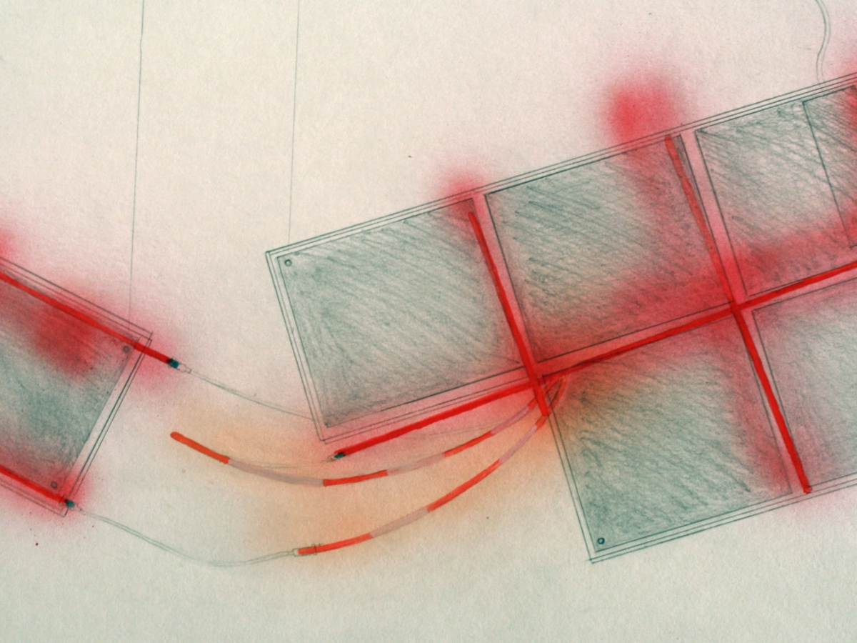 Christoph Rust, Skizze für Leuchtreklame Choco-L-Art