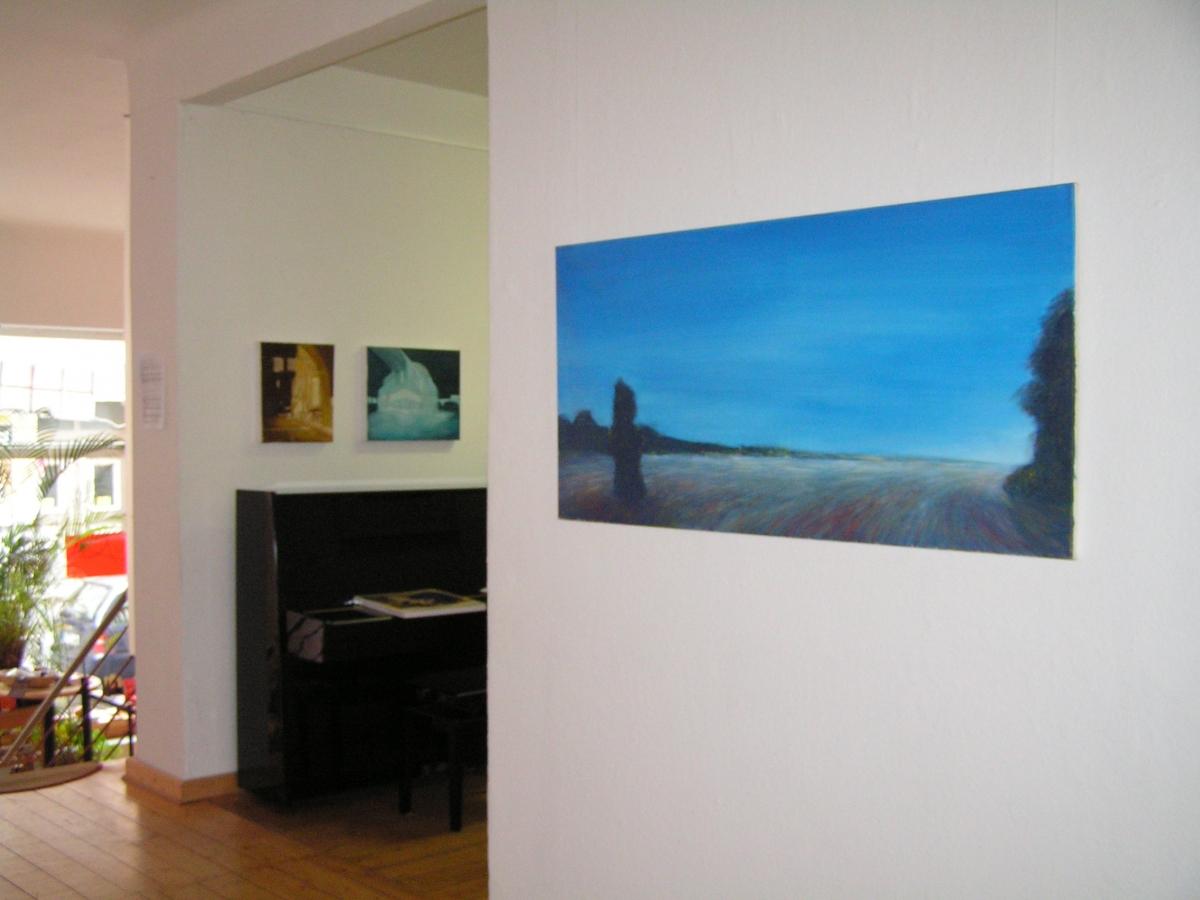 """Sophia Loth, """"Weite"""", 2007, Acryl/Öl a.Lw., 70×140"""