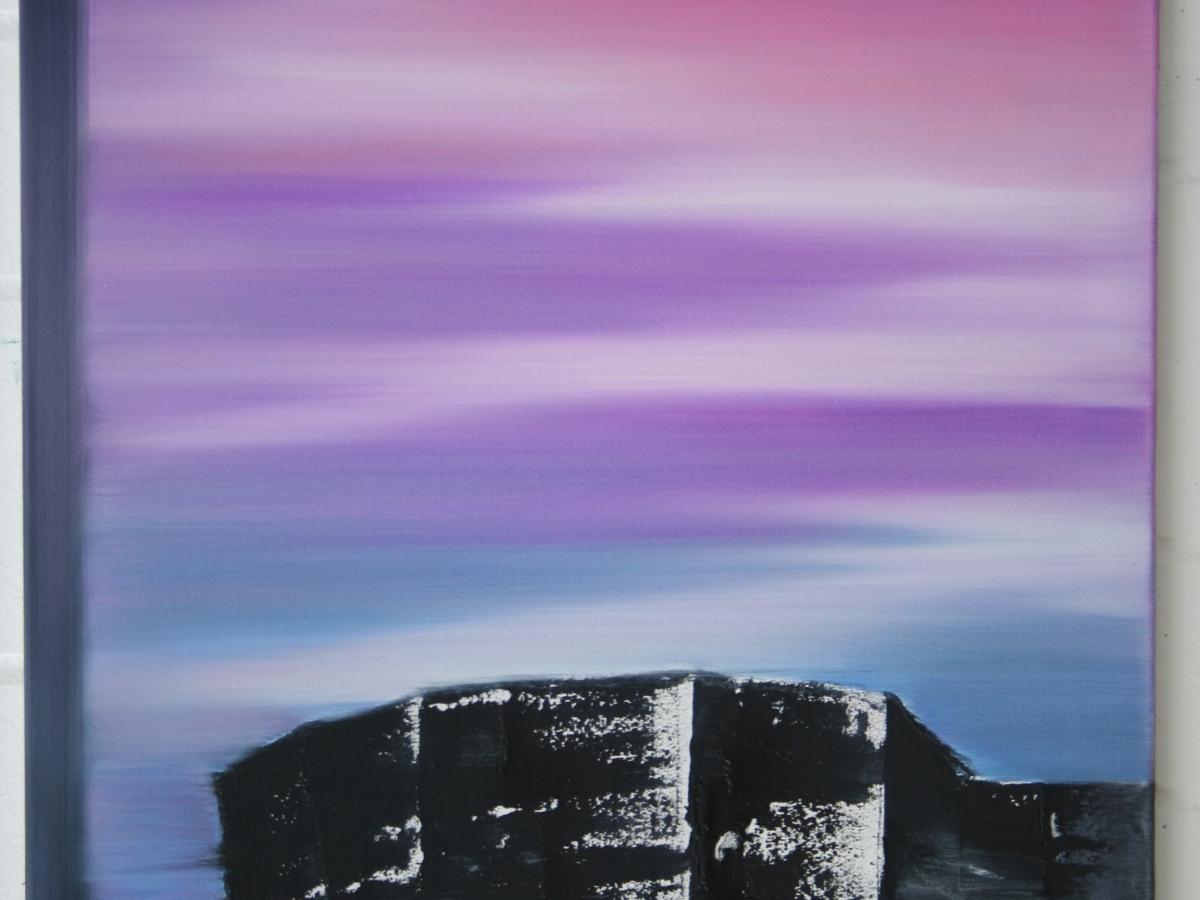 "Eun-Hee Lee, ""Teetime"", 2006, oil on canvas 80×55"