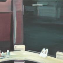 Million+dollar+Hotel,+Bar+2006+-+Öl+auf+Leinwand+-++40+x+50+cm