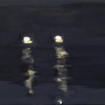 Nacht+Schwimmen+2005+-+Öl+auf+Leinwand+-+40+x+35+cm