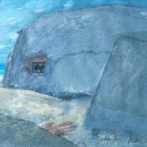 Bunker-Skizze, Gouache, 20x30